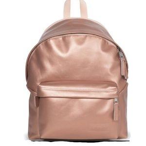 Eastpak Leather Rose Gold Backpack